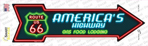 Route 66 Lodging Wholesale Novelty Arrow Sticker Decal