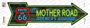 Route 66 Mother Road Neon Wholesale Novelty Arrow Sticker Decal