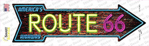 Route 66 Neon Wholesale Novelty Arrow Sticker Decal