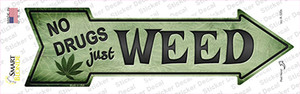 Just Weed Wholesale Novelty Arrow Sticker Decal
