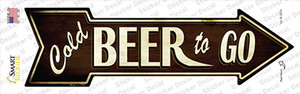 Cold Beer To Go Wholesale Novelty Arrow Sticker Decal