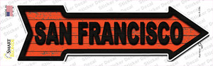 San Francisco Colors Wholesale Novelty Arrow Sticker Decal