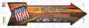 Route 66 With Sunset Wholesale Novelty Arrow Sticker Decal