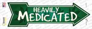 Heavily Medicated Wholesale Novelty Arrow Sticker Decal