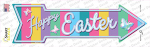 Happy Easter with Butterflies Wholesale Novelty Arrow Sticker Decal