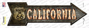 California Route 66 Bulb Letters Wholesale Novelty Arrow Sticker Decal
