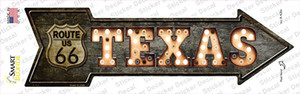 Texas Route 66 Bulb Letters Wholesale Novelty Arrow Sticker Decal