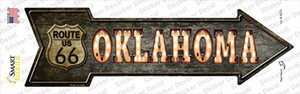 Oklahoma Route 66 Bulb Letters Wholesale Novelty Arrow Sticker Decal