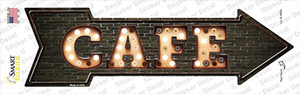 Cafe Bulb Letters Wholesale Novelty Arrow Sticker Decal