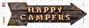 Happy Campers Bulb Letters Wholesale Novelty Arrow Sticker Decal