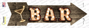 Bar With Cocktail Bulb Letters Wholesale Novelty Arrow Sticker Decal
