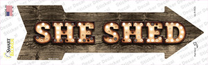 She Shed Bulb Letters Wholesale Novelty Arrow Sticker Decal