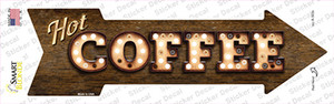 Hot Coffee Bulb Letters Wholesale Novelty Arrow Sticker Decal