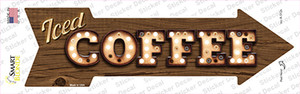 Iced Coffee Bulb Letters Wholesale Novelty Arrow Sticker Decal