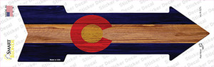 Colorado State Flag Wholesale Novelty Arrow Sticker Decal