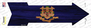 Connecticut State Flag Wholesale Novelty Arrow Sticker Decal