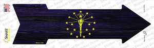 Indiana State Flag Wholesale Novelty Arrow Sticker Decal
