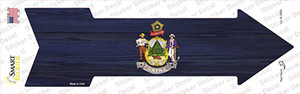 Maine State Flag Wholesale Novelty Arrow Sticker Decal