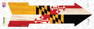 Maryland State Flag Wholesale Novelty Arrow Sticker Decal