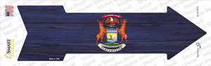 Michigan State Flag Wholesale Novelty Arrow Sticker Decal