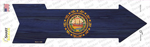 New Hampshire State Flag Wholesale Novelty Arrow Sticker Decal