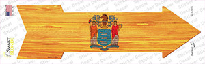New Jersey State Flag Wholesale Novelty Arrow Sticker Decal