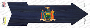 New York State Flag Wholesale Novelty Arrow Sticker Decal