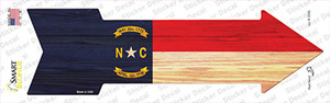 North Carolina State Flag Wholesale Novelty Arrow Sticker Decal