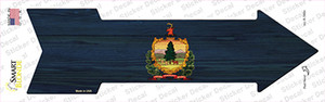 Vermont State Flag Wholesale Novelty Arrow Sticker Decal