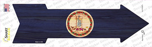 Virginia State Flag Wholesale Novelty Arrow Sticker Decal