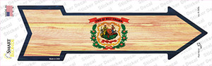West Virginia State Flag Wholesale Novelty Arrow Sticker Decal