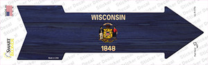 Wisconsin State Flag Wholesale Novelty Arrow Sticker Decal