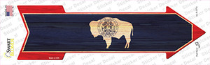 Wyoming State Flag Wholesale Novelty Arrow Sticker Decal