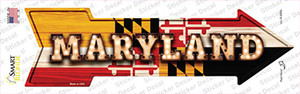 Maryland Bulb Lettering Wholesale Novelty Arrow Sticker Decal