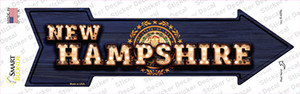 New Hampshire Bulb Lettering Wholesale Novelty Arrow Sticker Decal