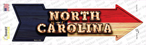 North Carolina Bulb Lettering Wholesale Novelty Arrow Sticker Decal