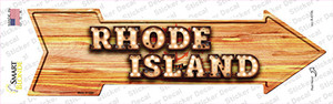 Rhode Island Bulb Lettering Wholesale Novelty Arrow Sticker Decal
