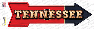 Tennessee Bulb Lettering Wholesale Novelty Arrow Sticker Decal