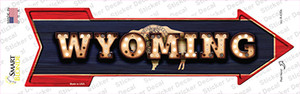 Wyoming Bulb Lettering Wholesale Novelty Arrow Sticker Decal