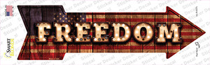 Freedom Bulb Letters Wholesale Novelty Arrow Sticker Decal