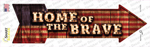Home of the Brave Bulb Letters Wholesale Novelty Arrow Sticker Decal