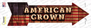 American Grown Bulb Letters Wholesale Novelty Arrow Sticker Decal