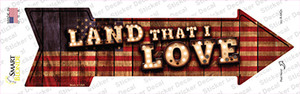 Land That I Love Bulb Letters Wholesale Novelty Arrow Sticker Decal