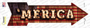 Merica Bulb Lettering Wholesale Novelty Arrow Sticker Decal