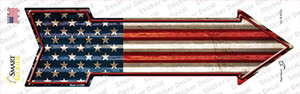 American Flag Corrugated Wholesale Novelty Arrow Sticker Decal