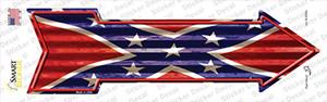 Confederate Flag Corrugated Wholesale Novelty Arrow Sticker Decal