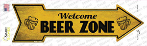 Welcome Beer Zone Wholesale Novelty Arrow Sticker Decal