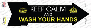 Keep Calm Wash Your Hands Wholesale Novelty Arrow Sticker Decal