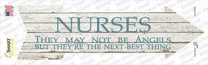 Nurses May Not Be Angels Wholesale Novelty Arrow Sticker Decal