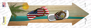 US and Illinois Flag Flip Flop Wholesale Novelty Arrow Sticker Decal